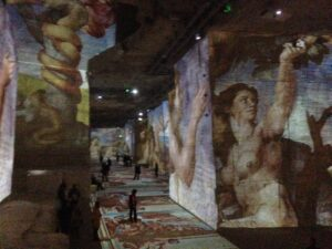 Beauty in a different form at Carrieres de Lumieres in Provence